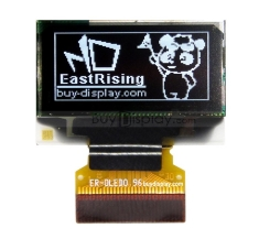 128x64 OLED I2C 0.96 inch Display,White Color,w/Connector FPC,SSD1306 ER-OLED 0.96-1.1W
